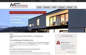 Ansicht Webdesign Baufinanzierung München