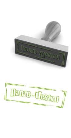 Impressum: panic-design Stempel