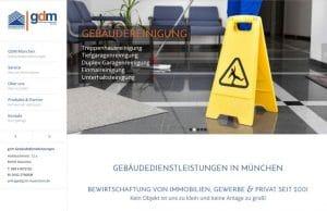 Webdesign GDM Gebäudedienstleistungen München