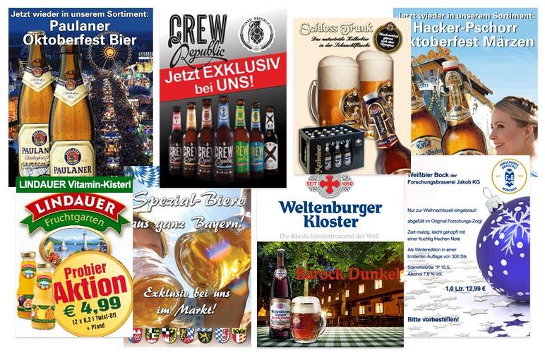 Anzeigen Banner Getränkemarkt