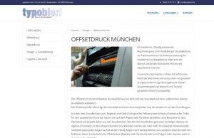 Webdesign Druckerei