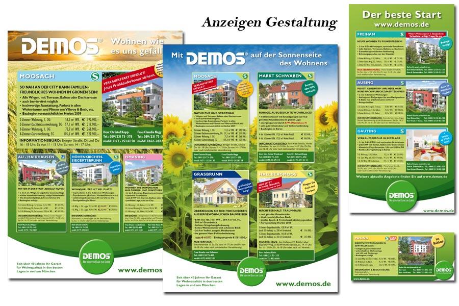 Anzeigen, Flyer, Bauschilder, Broschüren