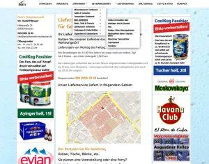 Webdesign Getränkemarkt