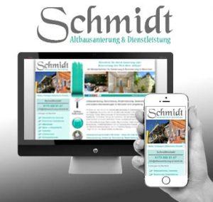 Webdesign für Altbausanierung Schmidt Webdesign