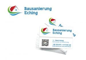 Visitenkarten Logo Bausanierung Eching