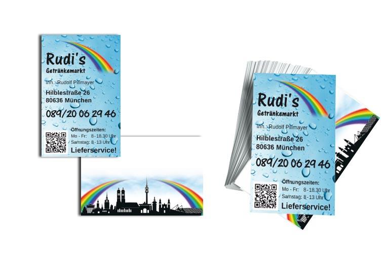 Visitenkarten Rudi's Getränkemarkt