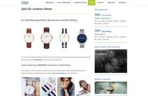 Webseite Juwelier Szenario