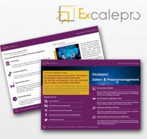 Flyer Excalepro 2-seitig