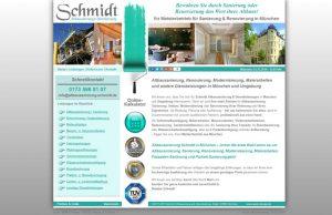 Webdesign Altbausanierung Schmidt