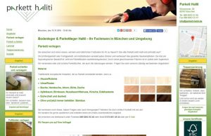 Webdesign Parkett Haliti