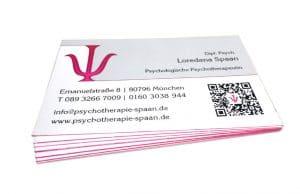 Visitenkarten Psychotherapie