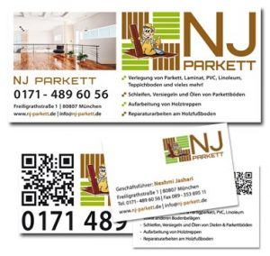 Grafik-Design NJ Parkettleger