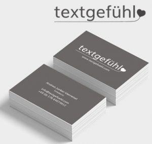 Visitenkarten Design textgefühl