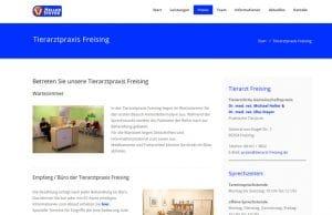Webdesign Tierarzt Freising